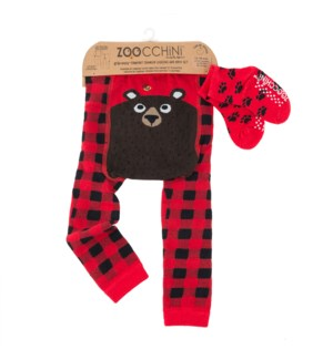grip+easy™ Crawler Legging & Sock Set - Bosley Bear 12-18mths