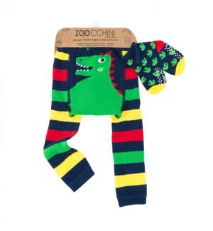 grip+easy™ Crawler Legging & Sock Set - Devin Dinosaur 12-18mths