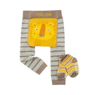grip+easy™ Crawler Legging & Sock Set - Leo Lion 6-12mths