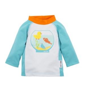 UPF50+ Baby Rash Guard - Fishbowl Buddies S: 3-6m