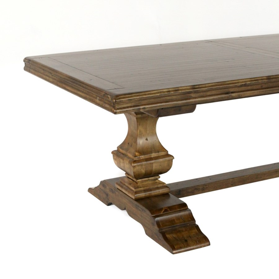 "Charles Dining 88""/110"" Earth / Birch"