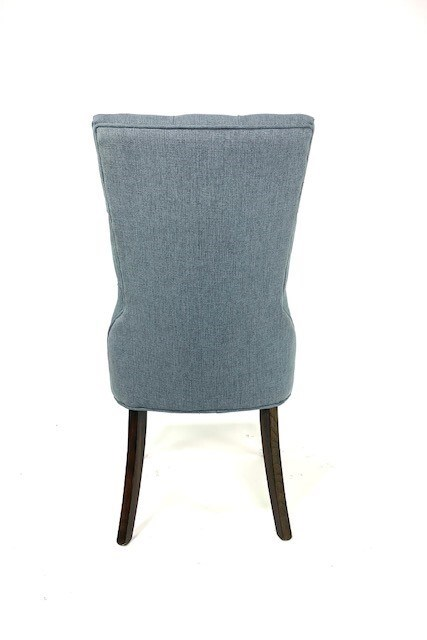 Ivy Side Chair Blue/ Dark Walnut