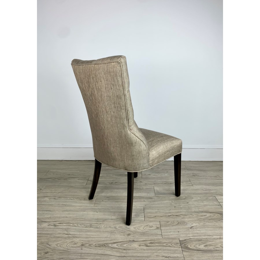 Ivy Side Chair Davis Pewter Dark Walnut