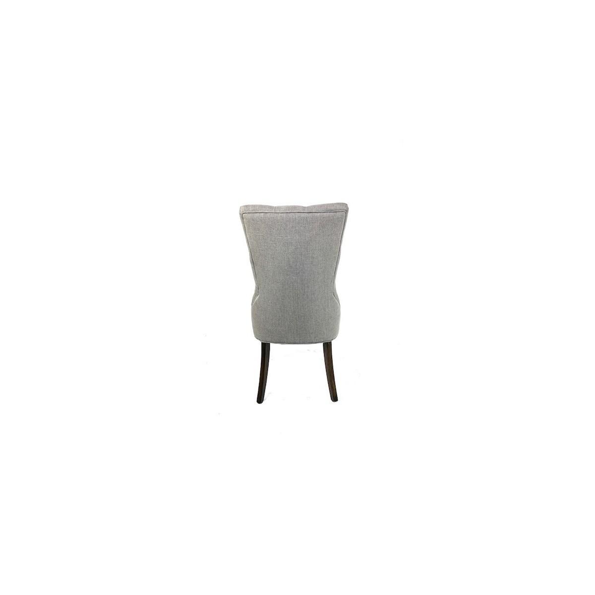 Ivy Side Chair Grey/ Dark Walnut