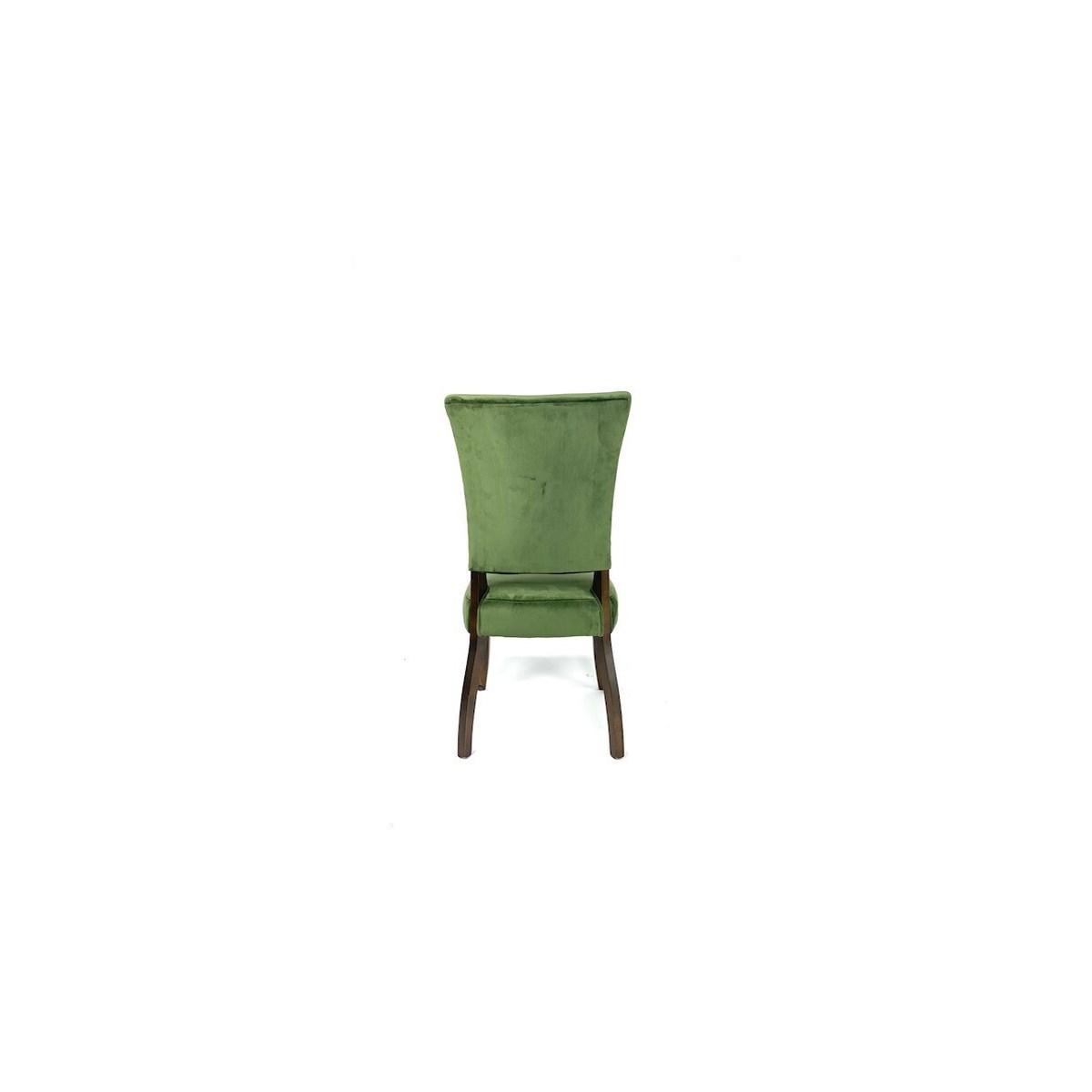 Weston Chair Velvet Dark Green/ Dark Walnut