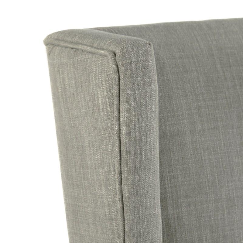 Elizabeth Side Linen Clay - Dark Walnut