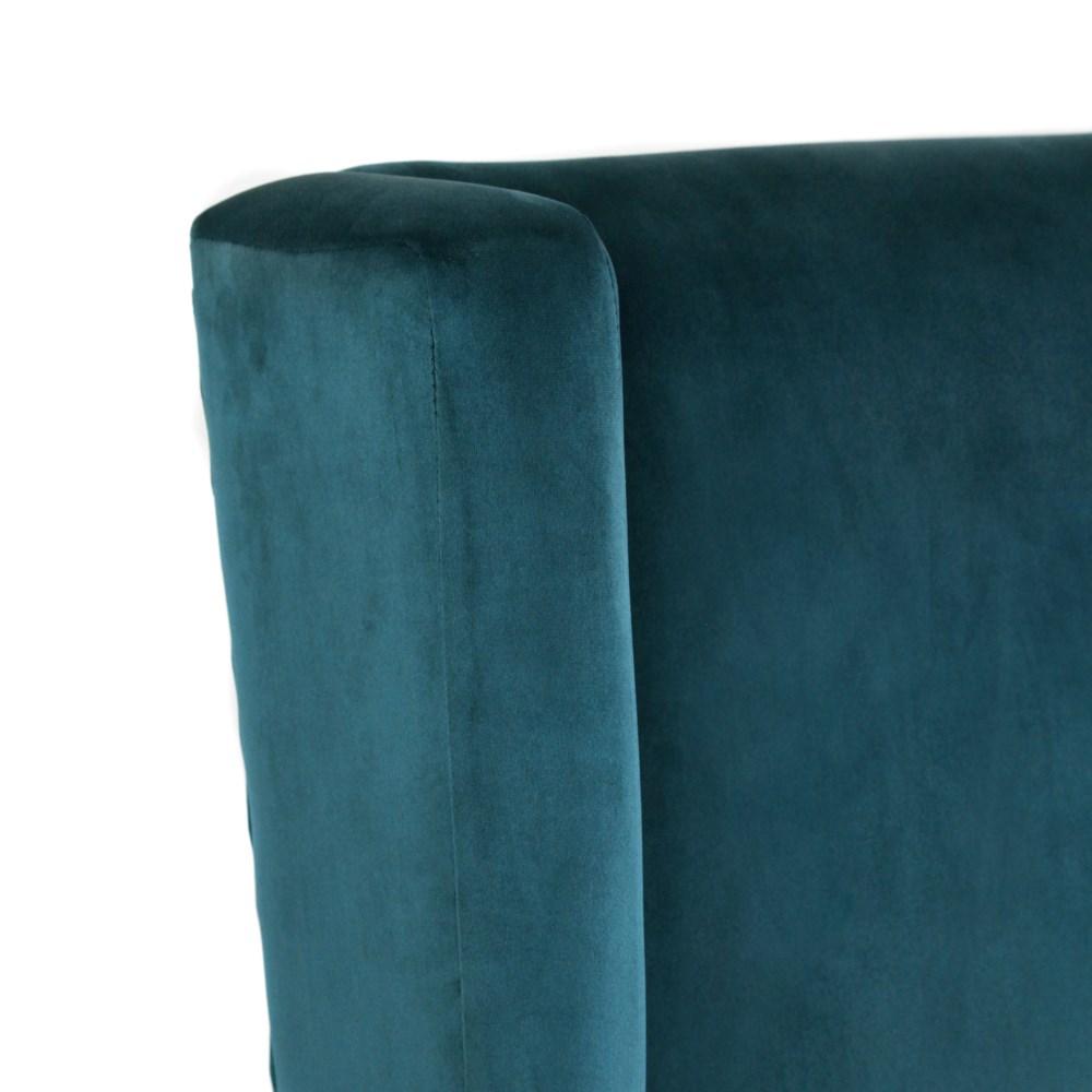 Elizabeth Arm (600) Blue Aqua/ Dark Walnut