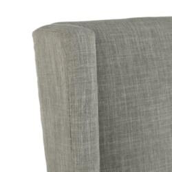 Elizabeth Arm Linen Clay - Dark Walnut