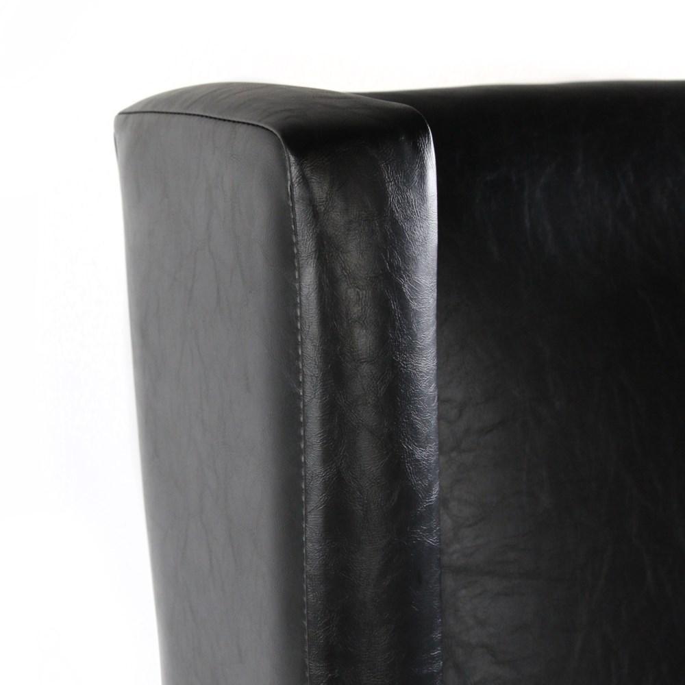 Elizabeth Arm Primo Black/ Dark Walnut