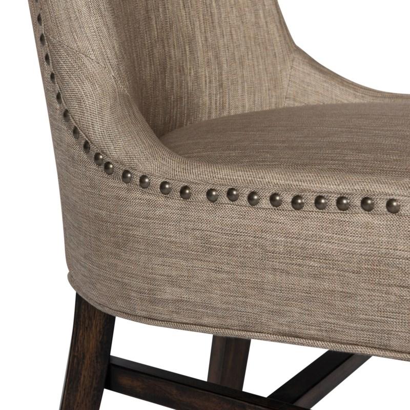 Joplin Side Chair Davis Pewter Dark Walnut