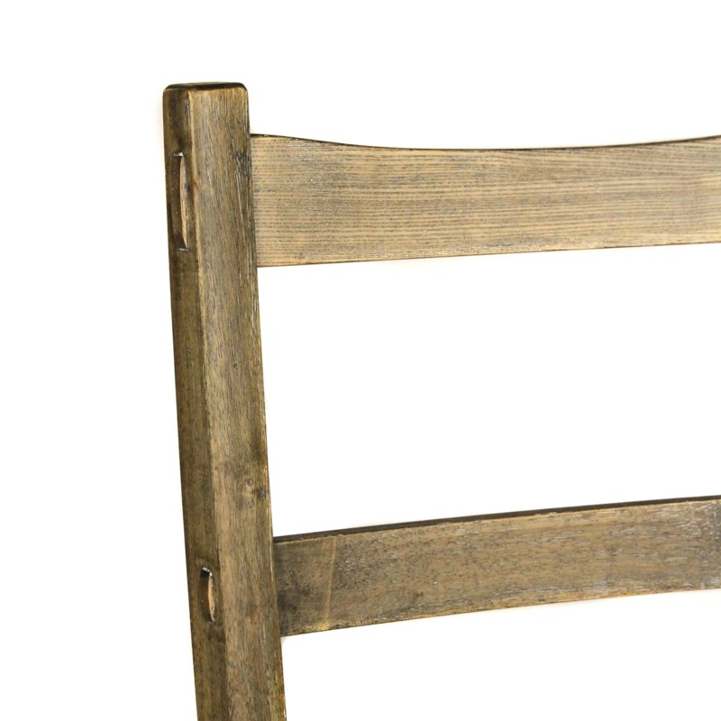 Newark Side Chair Wood Seat Driftwood