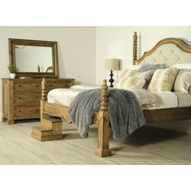Granada Bed King Rubbed Black