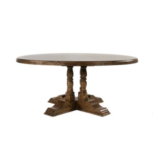 "Tuscany 70"" Rd Dining Table Earth/Birch"