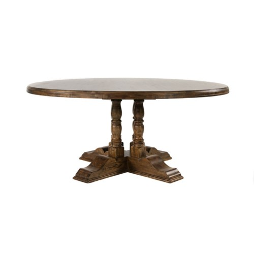 """Tuscany 70"""" Rd Dining Table Earth/Birch"""