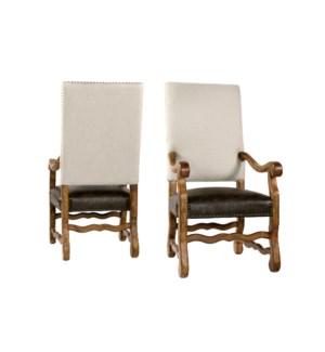 Ane Arm Chair Herringbone Oatmeal Pri Tim/Earth Fin