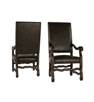 Ane Arm Chair Primo Timber / Chestnut Finish