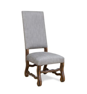 Ane Side Chair Granite Ash / Chestnut Finish