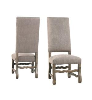 Ane Side Chair Granite Ash / Driftwood