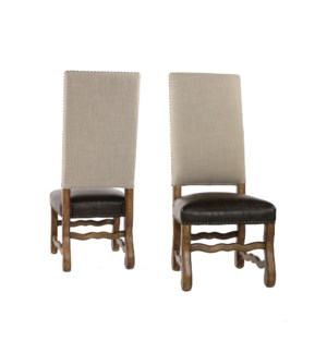 Ane Side Chair Natural Linen/Primo Tim/Earth Fin