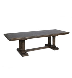 "Ascot Dining Table 88""/110"" Dark Walnut"