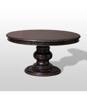 """Austin 60"""" Round Pedestal Dark Wal"""