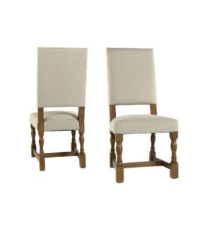 Carmen Side Chair Herringbone Oatmeal Earth