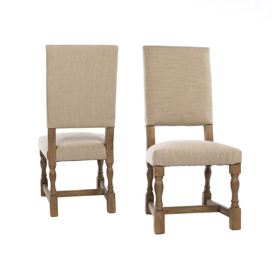 Carmen Side Chair Natural Linen Driftwood