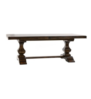 "Charles Dining 88""/110"" Chestnut /Birch"