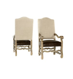 Hayden Arm Chair Natural Linen/Primo Timber Driftwood