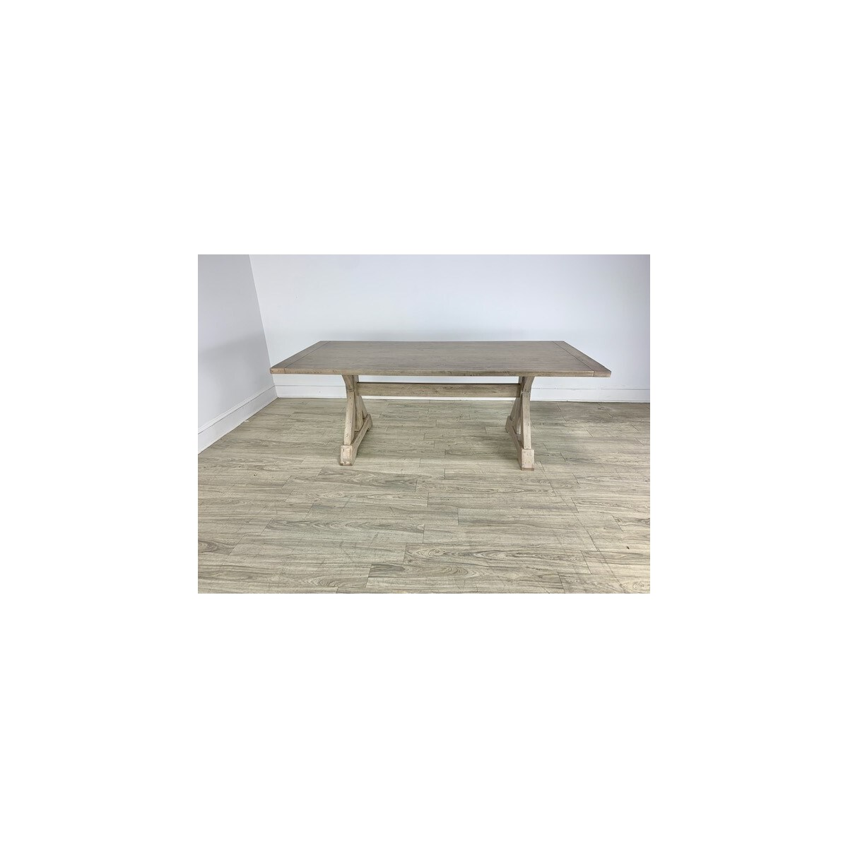 """Harper 84""""x38"""" Dining Table Gray Wash"""