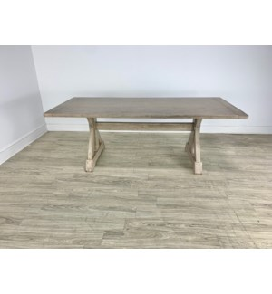 "Harper 84"" Dining Table Gray Wash"