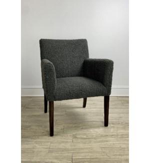 Hudson Arm Chair Sherpa Grey/ Drk Walnut