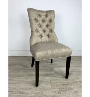 Ivy Side Chair Davis Pewter Dark Walnut