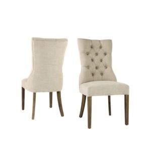 Ivy Side Chair Nat Linen Driftwood