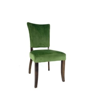 Weston Chair Velvet Dark Green/ Dark Walnut