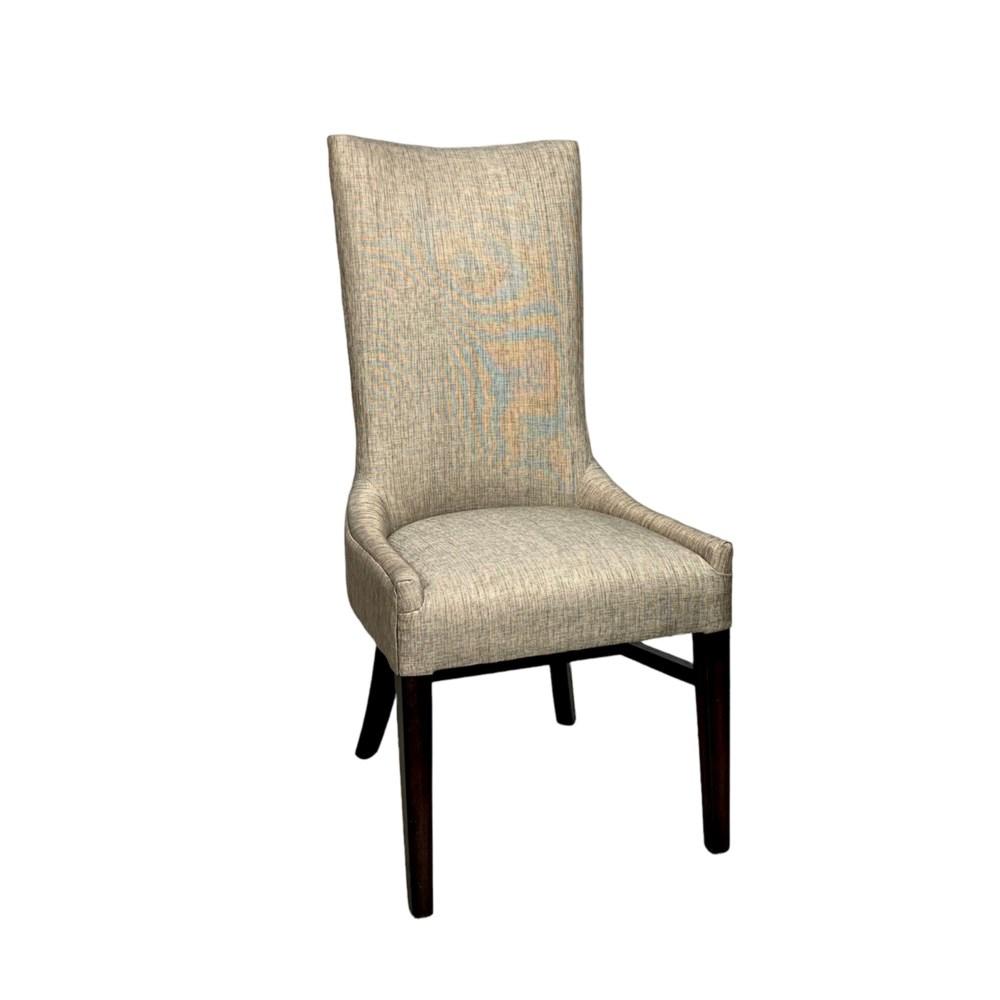 Julia Side Chair Davis Pewter/ P307 Dk Walnut