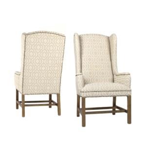 Oliver Wing Back Chair Veranda Fog Drftwd