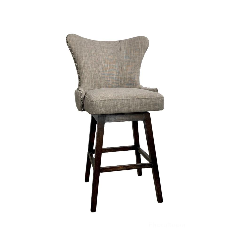 Ruby Swivel Barstool Linen Clay IH319