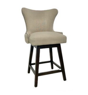 Ruby Swivel Counterstool Natural Linen IH319