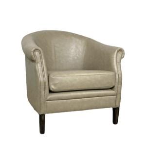 Mia Club Chair Primo Stone / Dark Walnut
