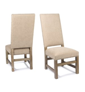 Leah Side Chair Granite Wheat Driftwood