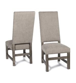 Leah Side Chair Granite Ash / Driftwood