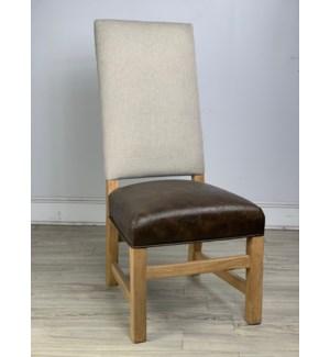 Leah Side Chair Herringbone Oatmeal/Primo/Earth