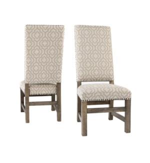 Leah Side Chair Veranda Fog/Driftwood
