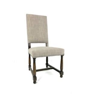 Norah Chair Linen Clay Dark Walnut