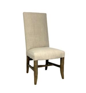 Winston Side Chair Natural Linen Driftwood