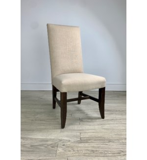 Winston Side Chair Natural Linen/ Dark Walnut