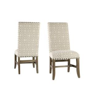 Winston Side Chair Veranda Fog Driftwood
