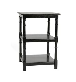 Haynes Side Table w/Shelf 20x20x28 Black