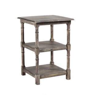 Haynes Side Table w/Shelf 20x20x28 LightSalvage